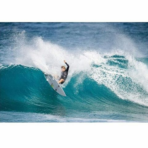 Repost from cisurfboardsoz of connercoffin not holding back in Hawaiihellip